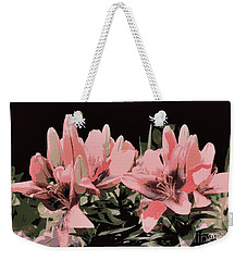 Digitalized Lilies Weekender Tote Bag
