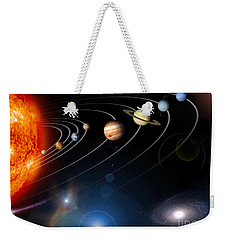 Digitally Generated Image Of Our Solar Weekender Tote Bag by Stocktrek Images
