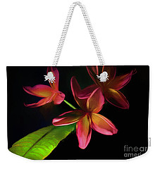 Digitized Sunset Plumerias #2 Weekender Tote Bag