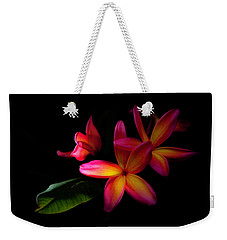 Digitized Sunset Plumerias  Weekender Tote Bag