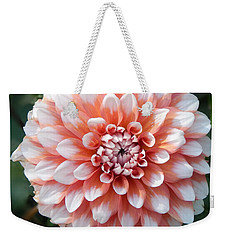 Dahlia Flower- Soft Pink Tones Weekender Tote Bag