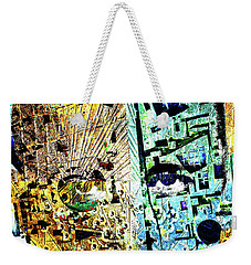 Weekender Tote Bag featuring the painting Dillinger by Tony Rubino