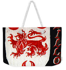 Weekender Tote Bag featuring the painting Dillon Family Shield by Barbara McDevitt