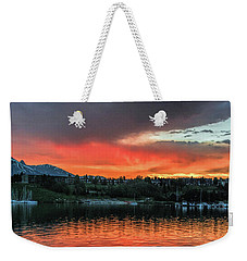 Dillon Marina At Sunset Weekender Tote Bag