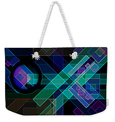 Weekender Tote Bag featuring the digital art Dimensions 14 by Lynda Lehmann