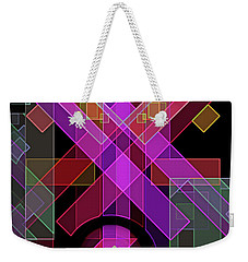 Weekender Tote Bag featuring the digital art Dimensions-18 by Lynda Lehmann