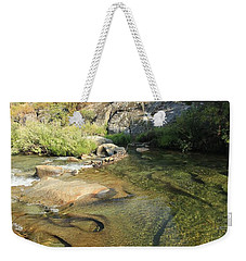 Weekender Tote Bag featuring the photograph Dimensions by Sean Sarsfield