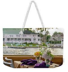 Dining Aboard The Miss Lotta Weekender Tote Bag by Maureen E Ritter