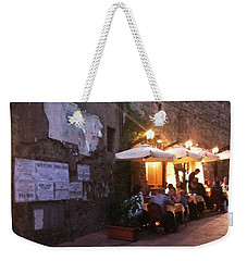 Dining In Tuscany Weekender Tote Bag by Carol Sweetwood