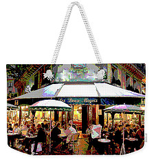 Dining Out Weekender Tote Bag by Charles Shoup