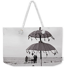 Weekender Tote Bag featuring the photograph Dinner On The Beach by Cassandra Buckley