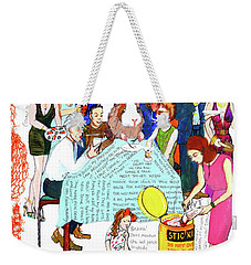 Dinner Party Weekender Tote Bag