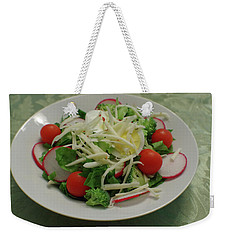 Weekender Tote Bag featuring the photograph Dinner Salad by Adria Trail