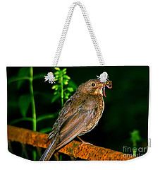 Weekender Tote Bag featuring the photograph Dinner Time  by Mariola Bitner