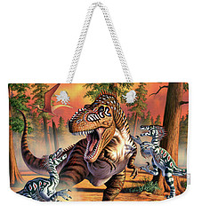 Dino Battle Weekender Tote Bag