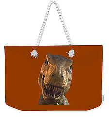 Weekender Tote Bag featuring the photograph Dino Hello by Charles Kraus
