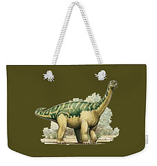 Dinosaur T-shirt Weekender Tote Bag by Herb Strobino