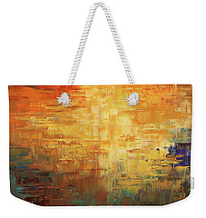Weekender Tote Bag featuring the painting Dinosaur Lowlands by Tatiana Iliina