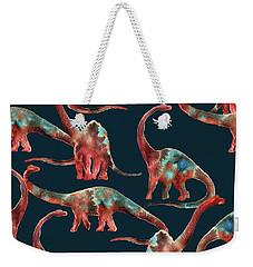 Diplodocus Weekender Tote Bag by Varpu Kronholm
