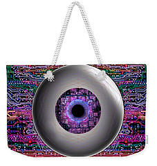 Weekender Tote Bag featuring the digital art Direct Link by Iowan Stone-Flowers