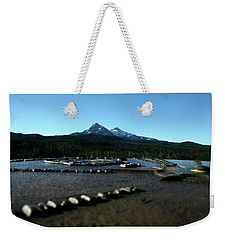 Weekender Tote Bag featuring the photograph Directional Points by Laddie Halupa