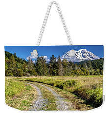 Dirt Road To Mt Rainier Weekender Tote Bag