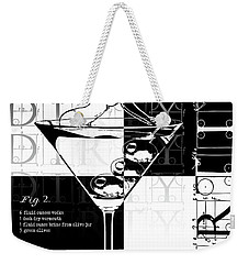 Dirty Dirty Martini Chechered Weekender Tote Bag by Jon Neidert