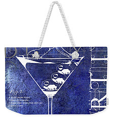 Dirty Dirty Martini Patent Blue Weekender Tote Bag by Jon Neidert