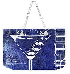 Dirty Dirty Martini Patent Blue Weekender Tote Bag by Jon Neidert