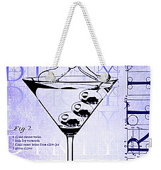 Dirty Dirty Martini Patent Blueprint Weekender Tote Bag by Jon Neidert