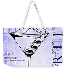 Dirty Dirty Martini Patent Blueprint Weekender Tote Bag by Jon Neidert