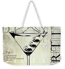 Dirty Dirty Martini Patent Weekender Tote Bag by Jon Neidert