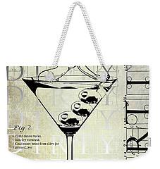 Dirty Dirty Martini Patent Weekender Tote Bag by Jon Neidert