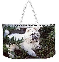 Dirty Dog Birthday Card Weekender Tote Bag