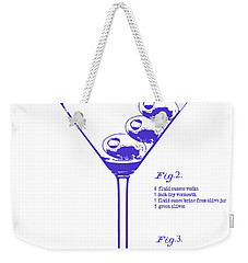 Dirty Martini Blueprint Weekender Tote Bag by Jon Neidert