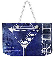 Dirty Martini Patent Blue Weekender Tote Bag by Jon Neidert