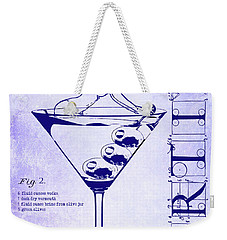 Dirty Martini Patent Blueprint Weekender Tote Bag by Jon Neidert