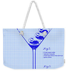 Dirty Martini Patent Weekender Tote Bag by Jon Neidert