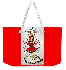 Weekender Tote Bag featuring the painting Disco Queen 80's by Don Pedro De Gracia