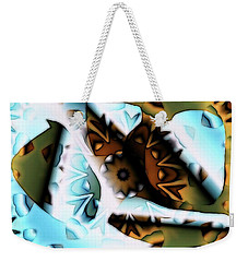 Weekender Tote Bag featuring the digital art Discontinuous Permafrost by Ron Bissett