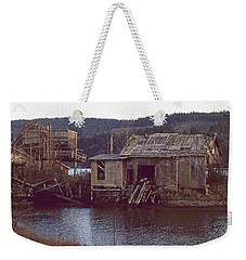 Weekender Tote Bag featuring the photograph Discovery Bay Mill by Laurie Stewart