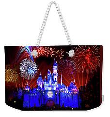 Disneyland 60th Anniversary Fireworks Weekender Tote Bag by Mark Andrew Thomas