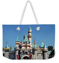 Weekender Tote Bag featuring the photograph Disneyland Castle by Mariola Bitner
