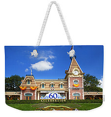 Weekender Tote Bag featuring the photograph Disneyland Entrance by Mark Andrew Thomas