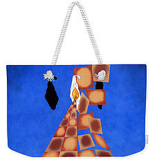 Disrupted Egg Path On Blue Weekender Tote Bag