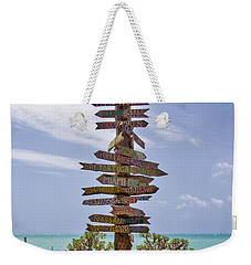 Distance From Key West Weekender Tote Bag