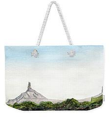 Distant Chimney Rock Near Scottsbluff Nebraska Weekender Tote Bag by R Kyllo