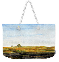 Distant Courthouse And Jail Rocks Weekender Tote Bag by R Kyllo