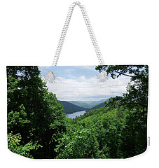 Distant Mountains Weekender Tote Bag by Cathy Harper