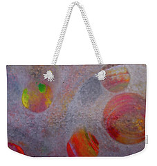 Weekender Tote Bag featuring the painting Distant Planets by Robert Margetts